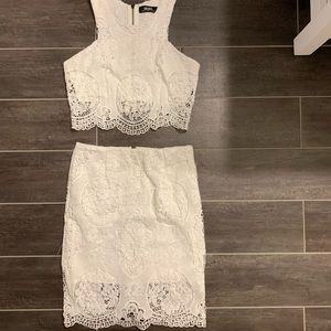 Lulus 2 piece white lace